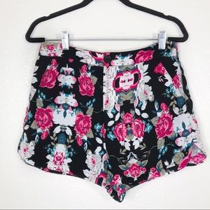 Forever 21 Exclusive Floral Print Dressy Shorts M